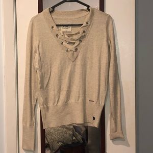 A&F string sweater